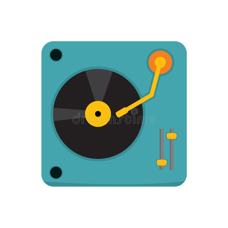 Простой Turntable DJ Vector график иллюстрации иллюстрация штока