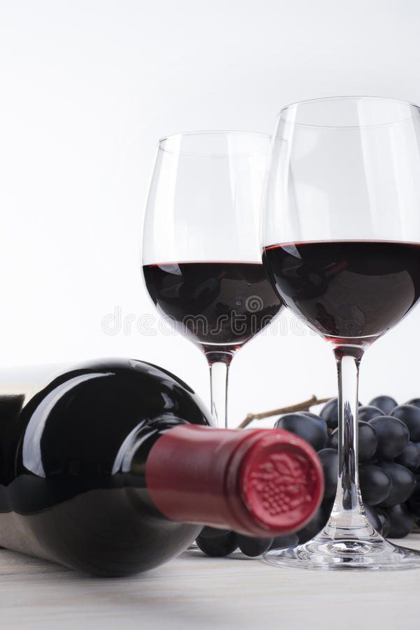 Просто красное вино стоковые фотографии rf