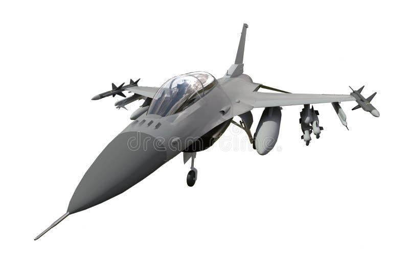 Пространственная модель военного самолета стран НАТО Воздушные судн с полными боеприпасами Вооружение aircr иллюстрация штока