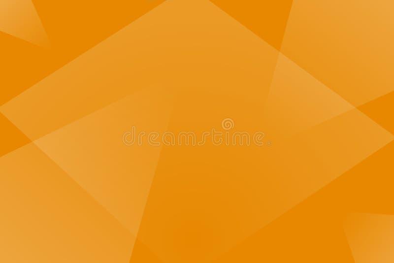 Простые абстрактные обои с оранжевыми формами traingle иллюстрация штока