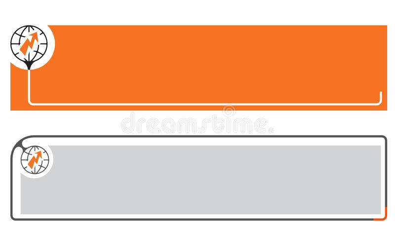 Простые знамена иллюстрация вектора