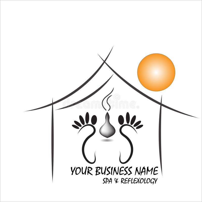 Простые и стильные современные логотип и иллюстрация, элемент руки вектора дома вычерченный бесплатная иллюстрация