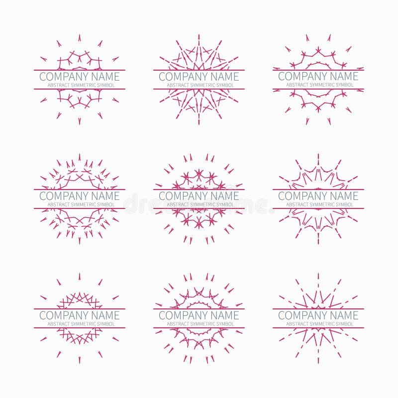 Простые розовые геометрические абстрактные симметричные формы бесплатная иллюстрация