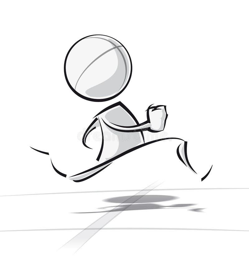Простые люди - бегущ иллюстрация вектора