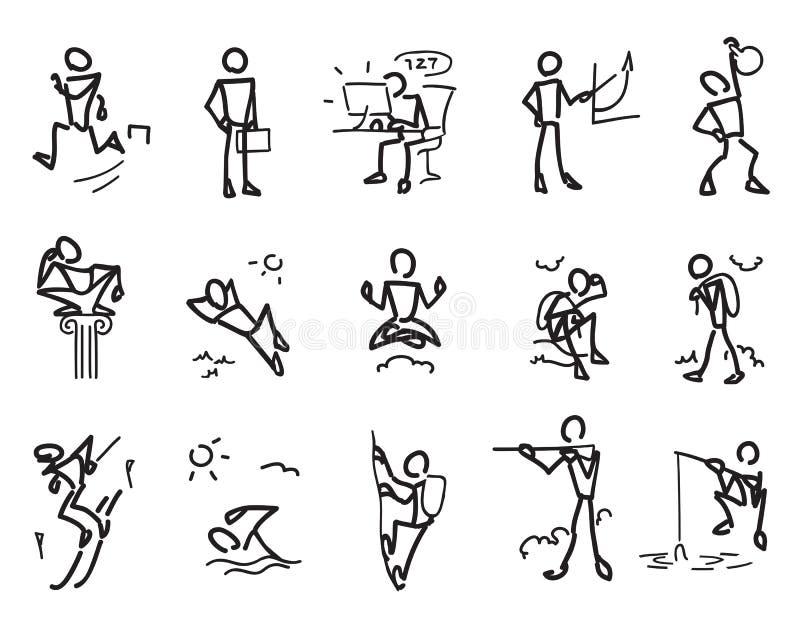 Простые люди иллюстрация вектора