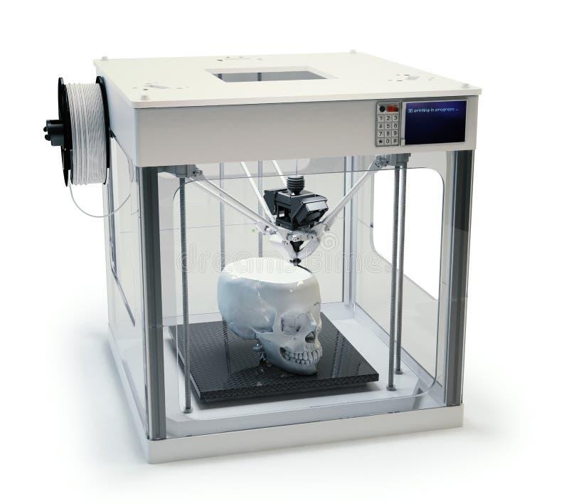 протезирование печатания 3D стоковая фотография