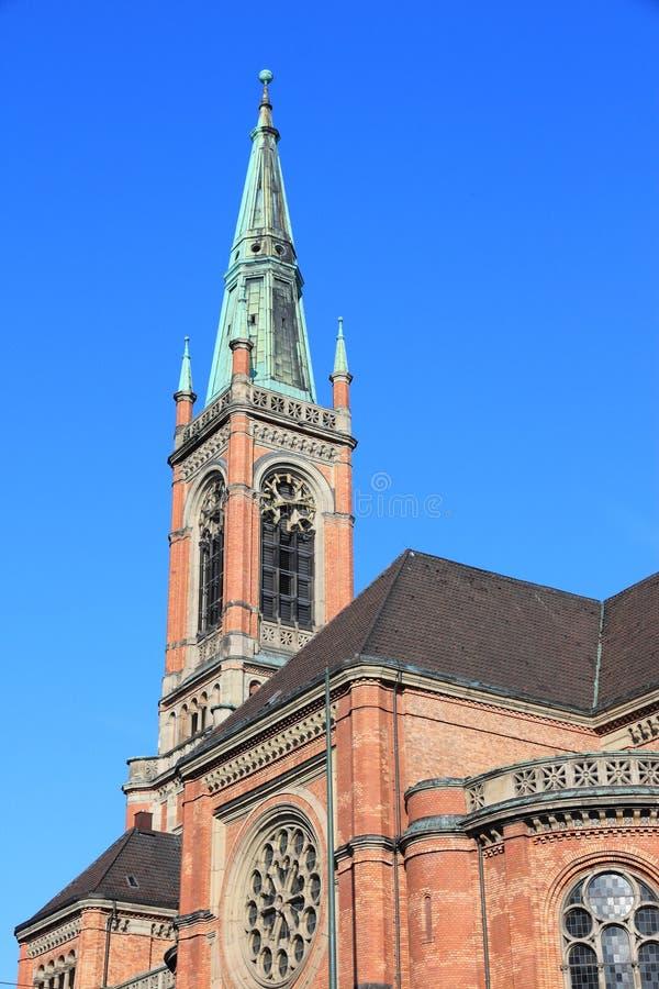 Протестантская церковь Дюссельдорфа стоковое изображение