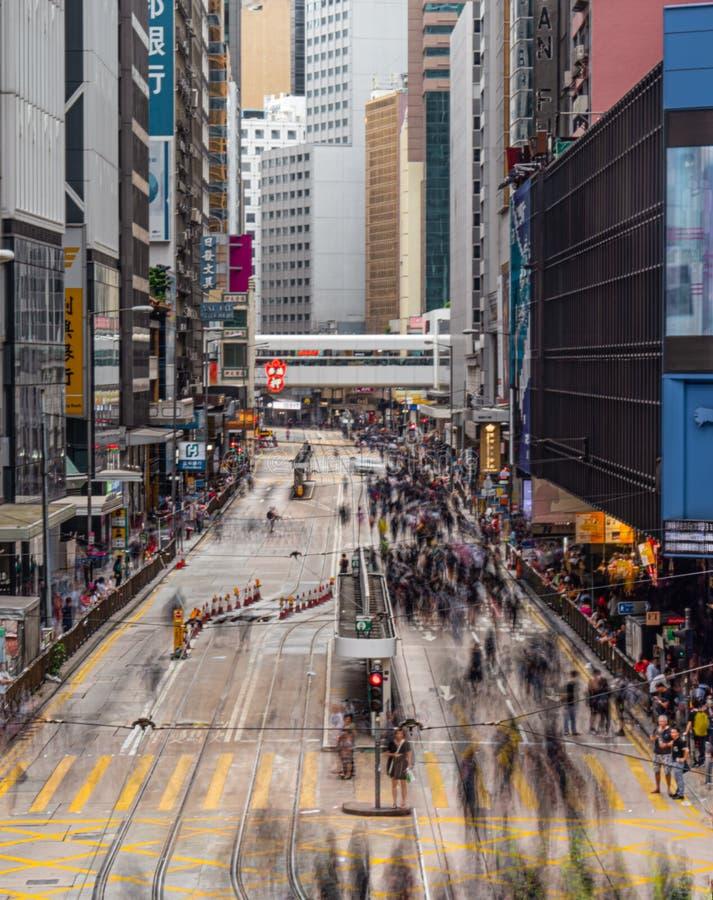 Протестующие 28-ОЕ ИЮЛЯ 2019 счета анти--экстрадиции Гонконга стоковая фотография rf