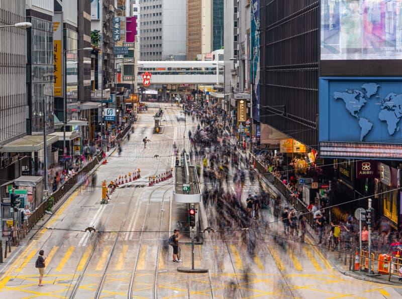 Протестующие 28-ОЕ ИЮЛЯ 2019 счета анти--экстрадиции Гонконга стоковое фото rf