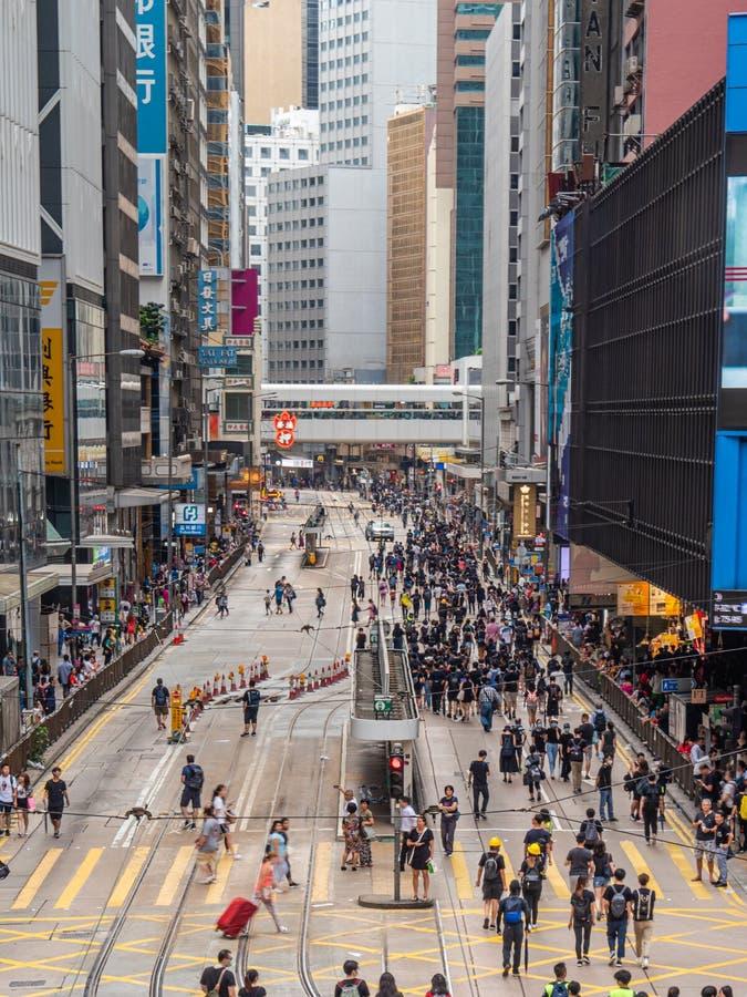 Протестующие 28-ОЕ ИЮЛЯ 2019 счета анти--экстрадиции Гонконга стоковые изображения