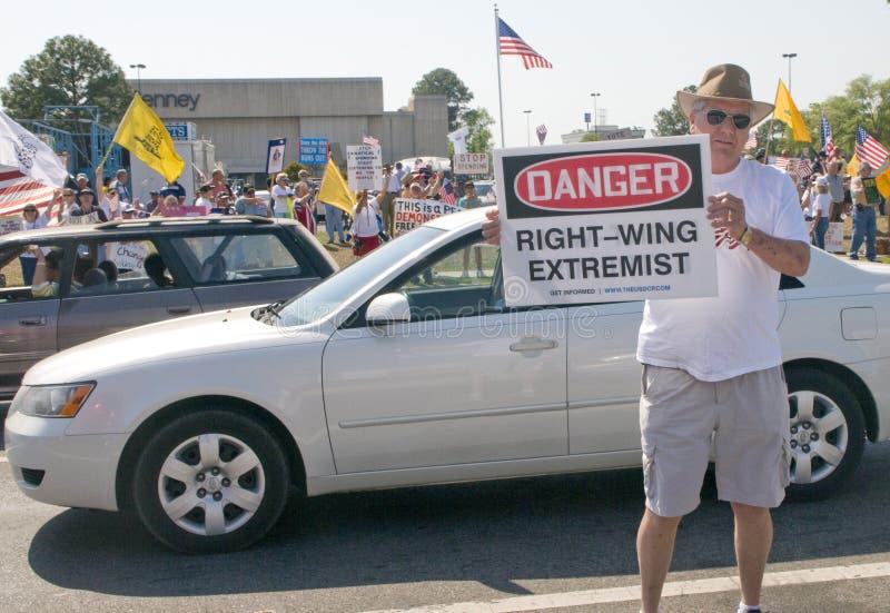 протестующие партии таксируют чай стоковая фотография