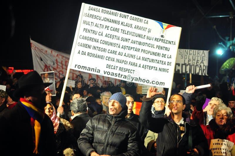 Протесты Бухарест - 19-ое января 2012 - 12 стоковое фото rf