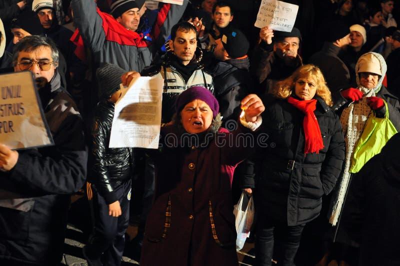 Протесты Бухарест - 19-ое января 2012 - 15 стоковые изображения rf