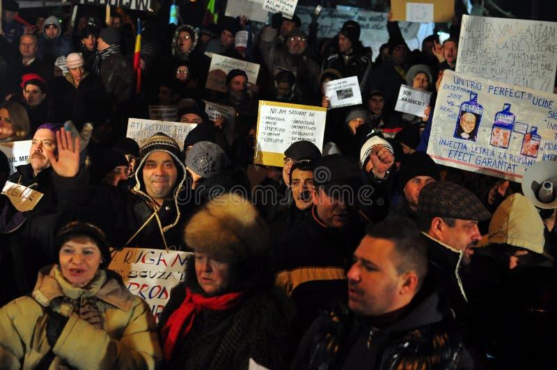 Протесты Бухарест - 19-ое января 2012 - 20 стоковая фотография