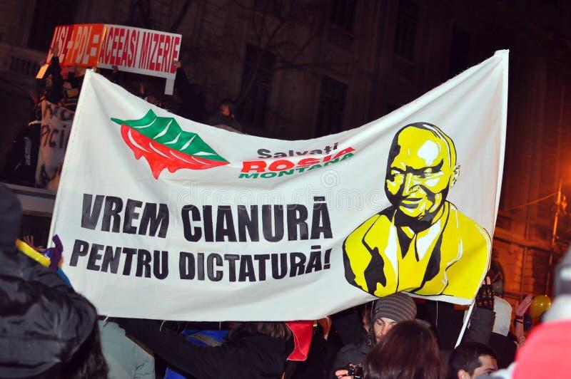 Протесты Бухарест - 19-ое января 2012 - 22 стоковое изображение