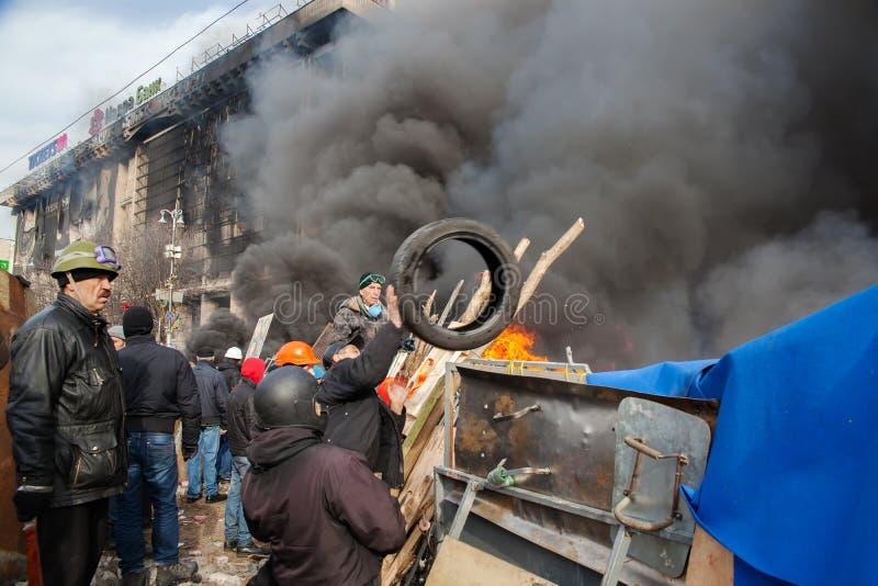 Протесты в Киеве стоковое изображение rf