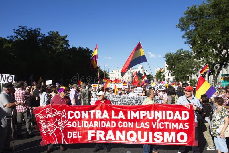 Протесты в Мадриде стоковое изображение rf