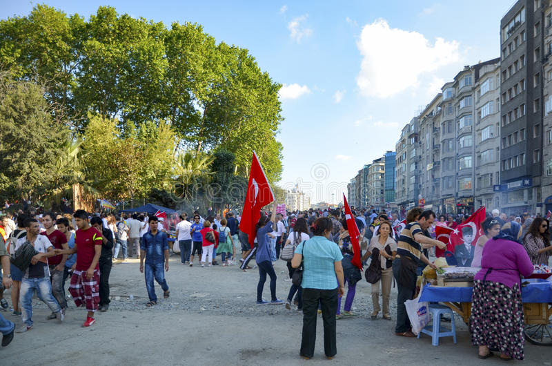 Протесты и события парка Taksim Gezi Оно начинало agai действия стоковое фото
