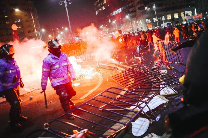 Протесты Румыния стоковые фото
