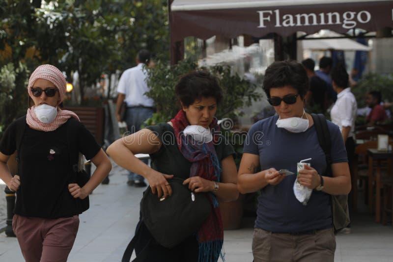 Протесты Стамбула Taksim стоковые изображения