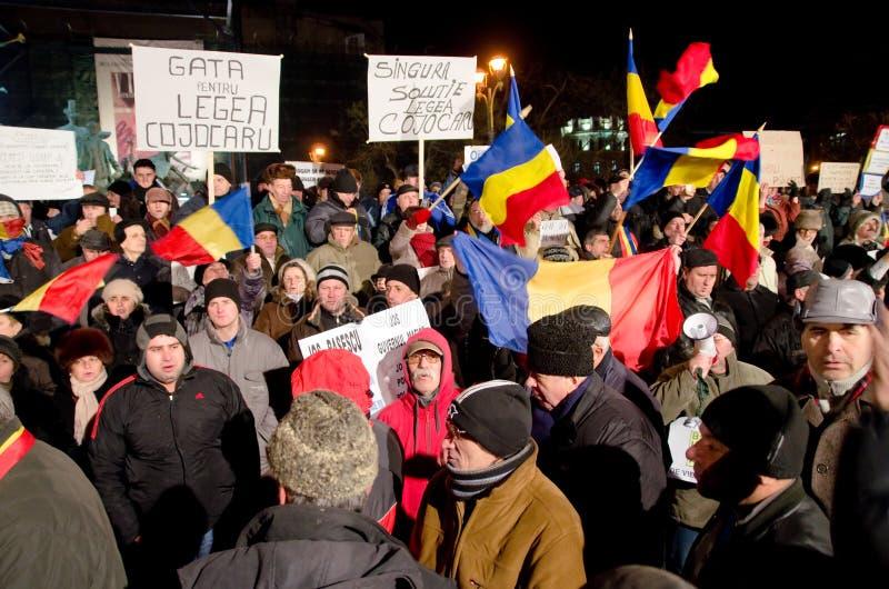 Протест в Бухарест стоковое фото