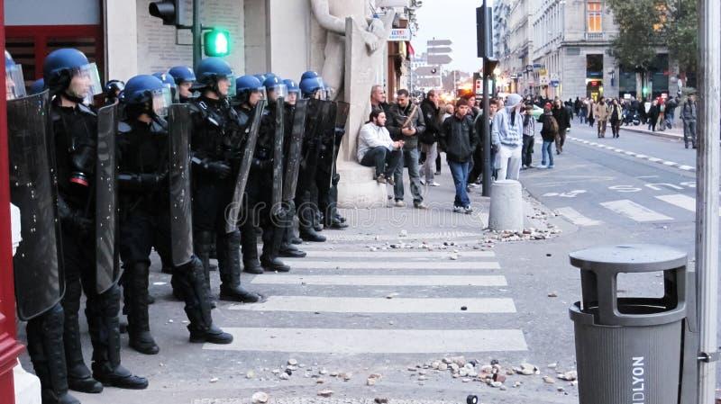 Протест в Лионе стоковая фотография rf