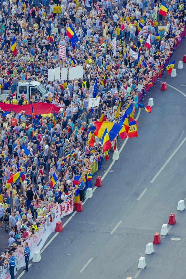 Протест диаспоры в Бухаресте против правительства стоковая фотография