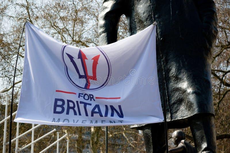 Протест дня Brexit в Лондоне стоковая фотография rf