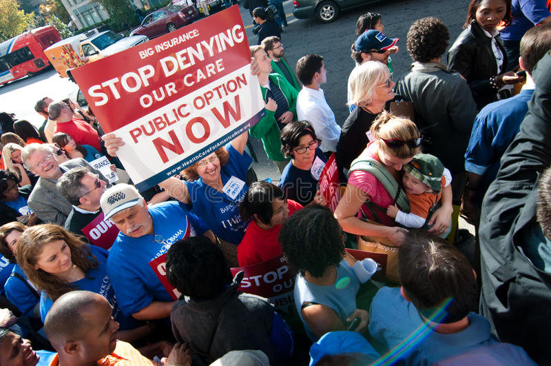 протест здоровья внимательности стоковая фотография