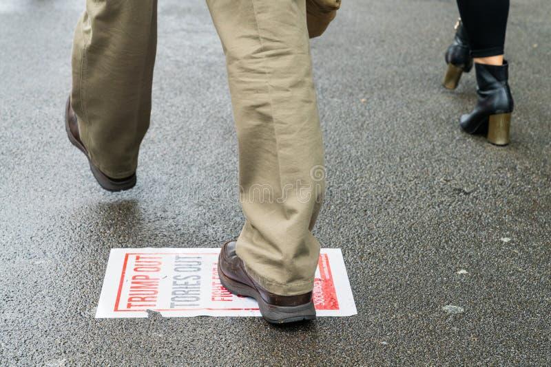 Протест козыря в Вестминстере, Лондоне стоковые фото