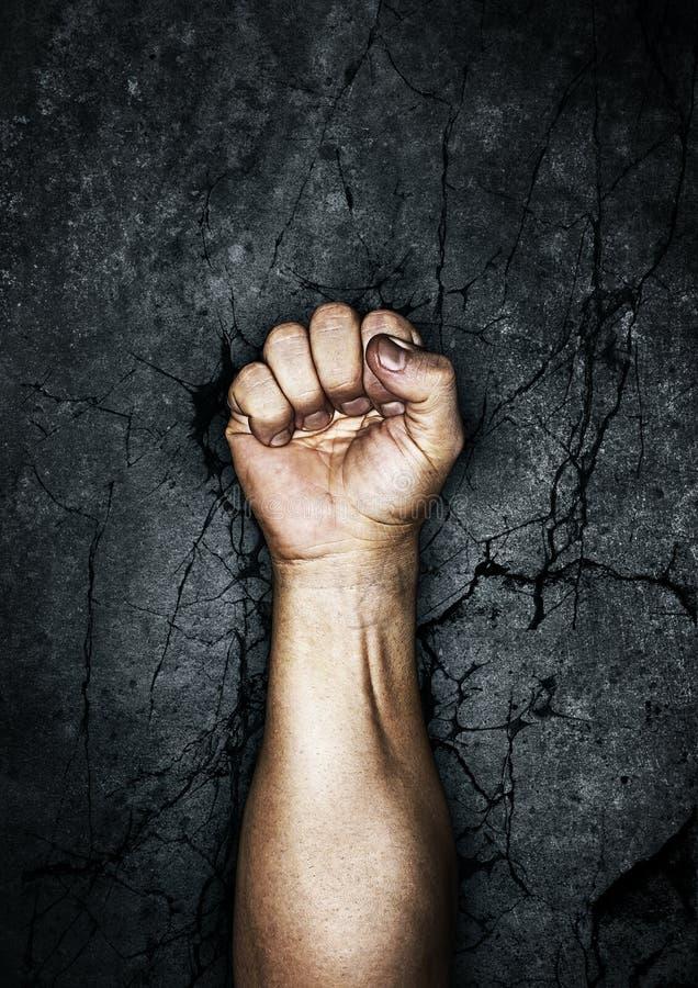 протест кулачка стоковое изображение rf