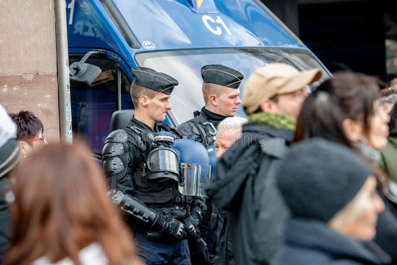 Протест против реформ работы в Франции стоковая фотография rf