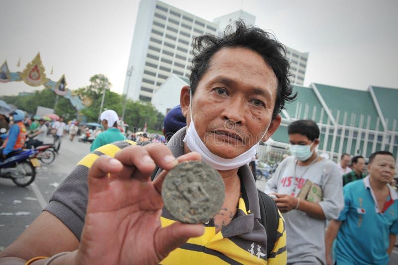Противоправительственное ралли в Бангкок стоковое изображение rf