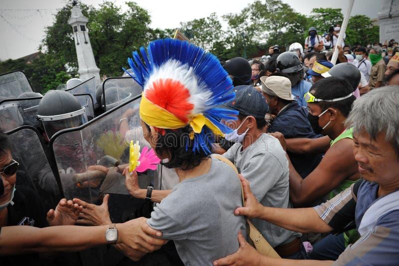 Противоправительственное ралли в Бангкок стоковые изображения