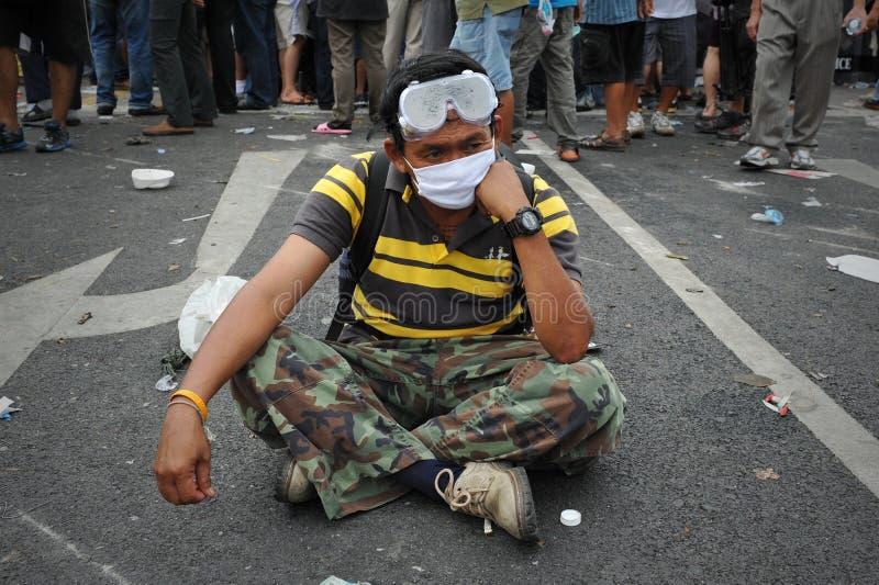 Противоправительственное ралли в Бангкок стоковое фото rf