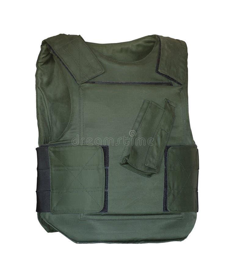 противопульная зеленая куртка стоковые фото