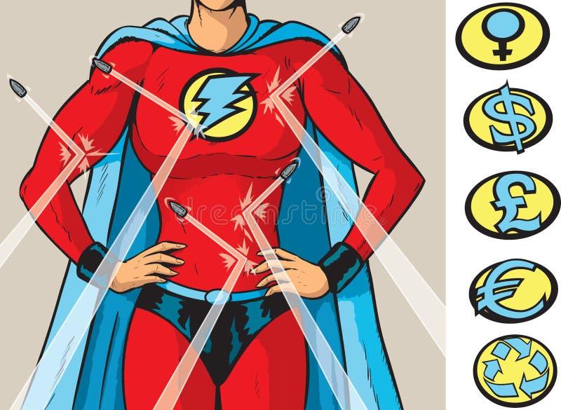 Противопульная героиня иллюстрация вектора