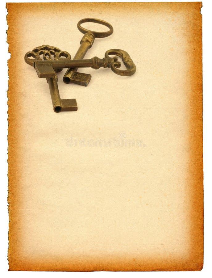 против бумаги ключей стоковое фото