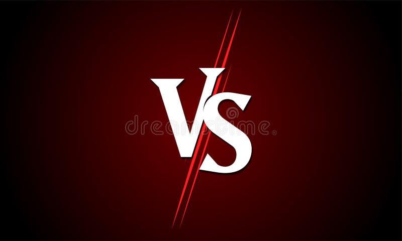 ПРОТИВ против значка вектора для конкуренции спички спорта иллюстрация штока