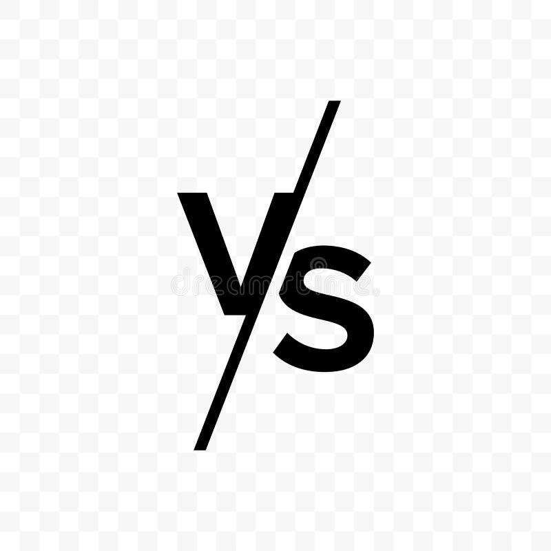 ПРОТИВ против значка вектора писем бесплатная иллюстрация