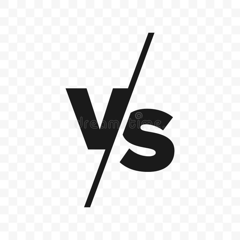 ПРОТИВ против значка вектора писем иллюстрация вектора