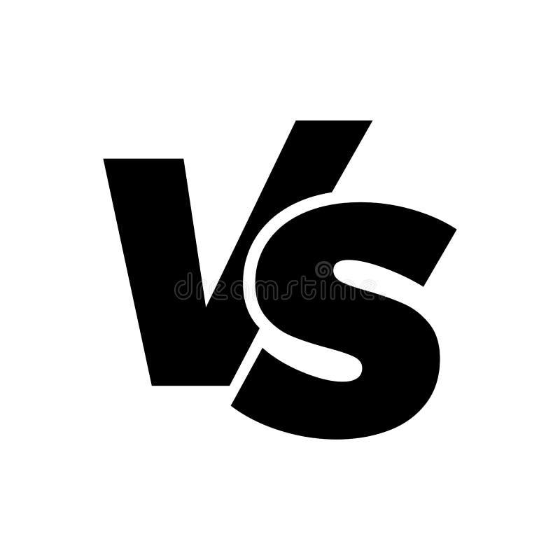 ПРОТИВ против значка логотипа вектора писем иллюстрация штока