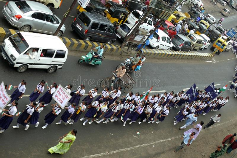 против марша Индии развращения стоковое фото