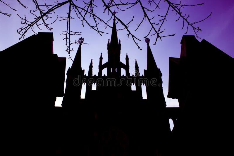 против неба церков стоковое изображение
