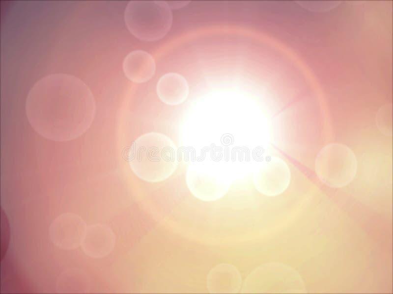 против перемещаться пузырей предпосылки теплый стоковое фото