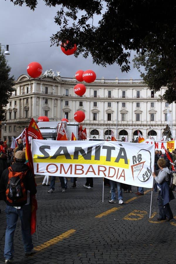 против правительства протестует rome стоковая фотография rf