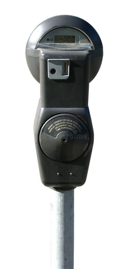 против предпосылки изолированная белизна стоянкы автомобилей метра стоковое фото rf