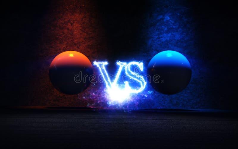 Против предпосылки с голубой и красной иллюстрацией лучей 3D зарева бесплатная иллюстрация