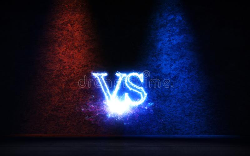 Против предпосылки с голубой и красной иллюстрацией лучей 3D зарева иллюстрация вектора