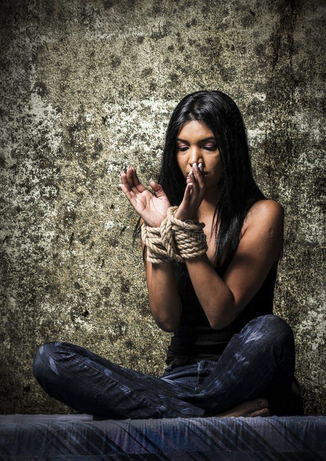 Против торговли людьми стоковое изображение